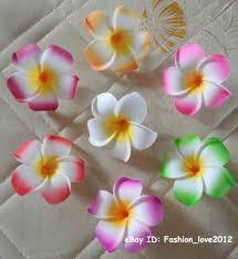 Foam flowers <b>Frangipani Plumeria</b> Flowers <b>10PCS</b> Various Colors ...