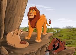 que le s pparece que dice mufasa y scar en esta imágen Images?q=tbn:ANd9GcQR7-lqNsWsMEd7jBRAWMNX0DCWg2VY6Ui1la1GFA4o6eSjf8uG
