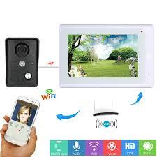 <b>7inch Wireless Wifi</b>/<b>Wired</b> Video Door Phone Doorbell Intercom ...