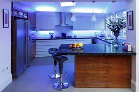 beautiful blue led kitchen lighting and white pendant lamp awesome modern kitchen lighting ideas white