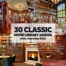 classic library home design ideas awesome home library design