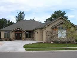 Nice One Story Houses One Story Basement House Plans  single level