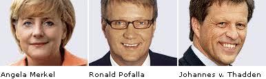 Foto: Angela Merkel, Ronald Pofalla, <b>Johannes von Thadden</b> - pic_spitzecdu
