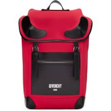 Givenchy - <b>Red</b> Neoprene <b>Rider Backpack</b> | Выкройки сумок