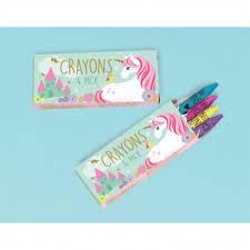 <b>12</b> Crayon <b>Boxes</b> Magical <b>Unicorn</b> 10.4 x 8.5 cm : Amscan Europe