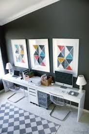 home office 2 ikea micke desks and drawer tobias clear chairs and benjamin moore kendall charcoal gray walls are you looking for beautiful art photo bathroomikea office furniture beautiful images