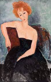 Amedeo Modigliani / Redheaded Girl in Evening Dress, 1918 | Art I ...