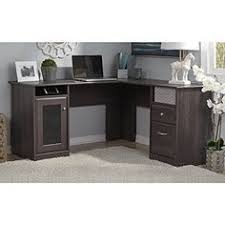 bush office furniture cabot collection 60w l desk in heather gray bush furniture bush office