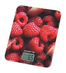 Кухонные <b>весы Polaris PKS</b> 0832DG Raspberry, цвет красный ...