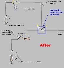 attic light electrical diy chatroom home improvement forum attic light power ceiling fan switch loop add attic