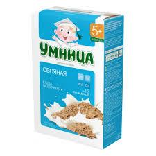 <b>Каша молочная Умница</b> овсяная, 5 мес., 250 г — купить в ...