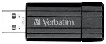 <b>Флеш диск Verbatim 32Gb</b> PinStripe 49064 USB2.0 Black купить в ...