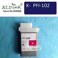 <b>PFI 102M Magenta</b> compatible ink Cartridge ( 0897B001 Ink) for ...