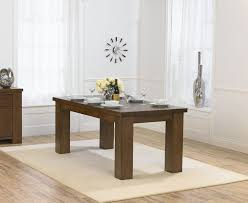 glass and wood dining tables and orval cappuccino wood and glass dining table set amazing dark oak dining