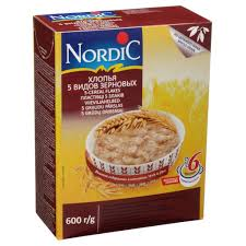 <b>Хлопья NORDIC 5</b> видов зерновых 600г купить в интернет ...
