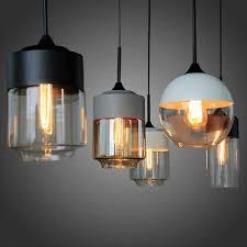 <b>New American Industrial Loft</b> Vintage Pendant Lights Black White ...