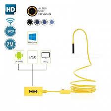BLCR IP68 Wi-Fi 2.0MP 1200P HD Borescope Inspection Snake ...