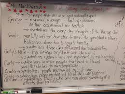 macpherson online  of mice and men 1 finish chart character descriptions work on quotations finish tuesday 2 chapter 5 answer questions