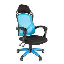 <b>Кресло</b> геймерское <b>Chairman GAME 12</b> сетка/ткань голубой/черный