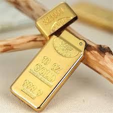 Free Shipping Gold Brick <b>Metal Compact Jet Butane</b> Lighter ...