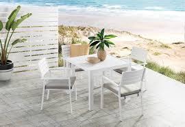 WHITE NORI <b>5 Piece Outdoor Dining</b> Setting | Amart Furniture