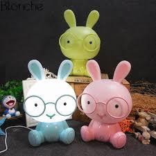 <b>Modern</b> Cartoon Glasses Rabbit <b>Night Light</b> for Children Baby Kids ...