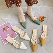 <b>Summer new sandals</b> and <b>slippers</b> pointed flat <b>slippers women</b> - buy ...