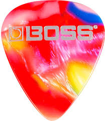 Купить <b>Boss BPK</b>-<b>12</b>-MT Celluloid Mosaic <b>Thin</b> 12 Pack <b>медиаторы</b> ...