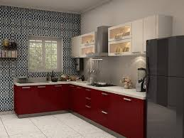 modular kitchen colors: verona l shaped modular kitchen from capricoast modern white and red kitchen cabinet ideas