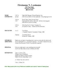 sample basic resume template for job with work experience free basic resume templates