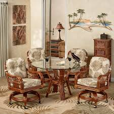 casual dining chairs with casters: leikela round dining table with caster chairs round set of five