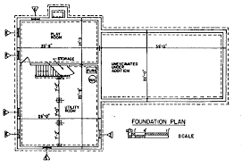 Free Colonial House Plans   Colonial House Floor PlansColonial House Basement   Foundation Plan