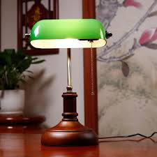 bankers desk lamp vintage glass cover table lamp creative bedroom bedside table lamp decorated american retro cover desk