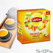 <b>Чай черный Липтон Tropical</b> Fruit <b>Tea</b> 20 пирамидок | купить с ...