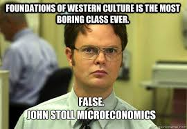 Foundations of Western Culture is the most boring class ever ... via Relatably.com