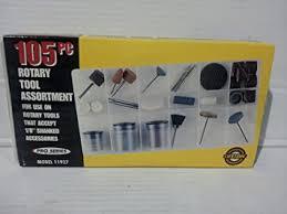 Kr Tools <b>105pc Rotary Tool</b> Assortment Model #11927 - - Amazon.com