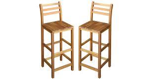 <b>Bar Chairs 2 pcs</b> Solid Acacia Wood - Matt Blatt