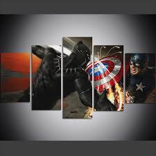 2019 <b>Large Size</b> Canvas <b>Wall Art</b> Pictures Creative Captain America ...
