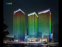 project design video display whole building lighting by dmx512 led linear light building facade lighting