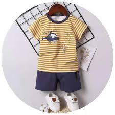 <b>Baby Kids Korean</b> Fashion Cotton Terno T Shirt+Shorts For Boys ...