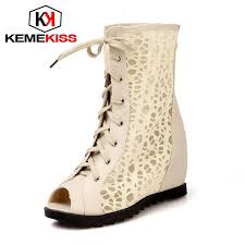 kemekiss size 30 50 women high heel ankle boots fashion lady cross strap shoes winter warm botas heels round toe footwear