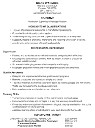 resume sample  production supervisor managermore damn good resume writing advice