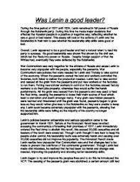 a good leader essay  wwwgxartorg what problems did lenin face when he became leader of russia was lenin a good leader