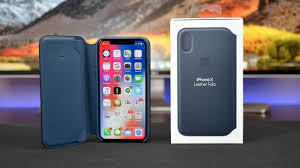 Apple iPhone X <b>Leather Folio Case</b>: Review - YouTube