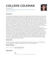 real estate broker resume samples  resume samples database real estate broker resume samples