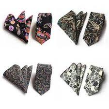JEMYGINS <b>Floral Paisley</b> Pocket Square <b>Tie Sets</b> Vintage Cotton ...