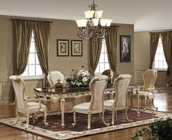 f glamorous decorating ideas formal dining room with victorian style opulence long dining table and 6 ivory chairs also classic uplight chandelier beautiful color table uplighting