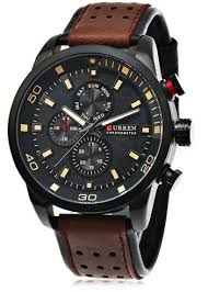 <b>CURREN 8250 Casual</b> Men Quartz Watch - Deep Brown | Mens ...