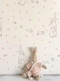 rabbit all star 9500 per roll stunning wallpaper hand printed in england in the bedroom cool bedroom wallpaper baby nursery