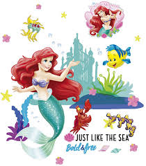 <b>Cartoon</b> Underwater the Little Mermaid <b>Fish Wall Stickers</b> For Kids ...